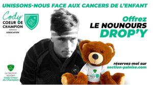 Unissons-nous face aux cancers de l'enfant - Offrez le nounours Drop'Y