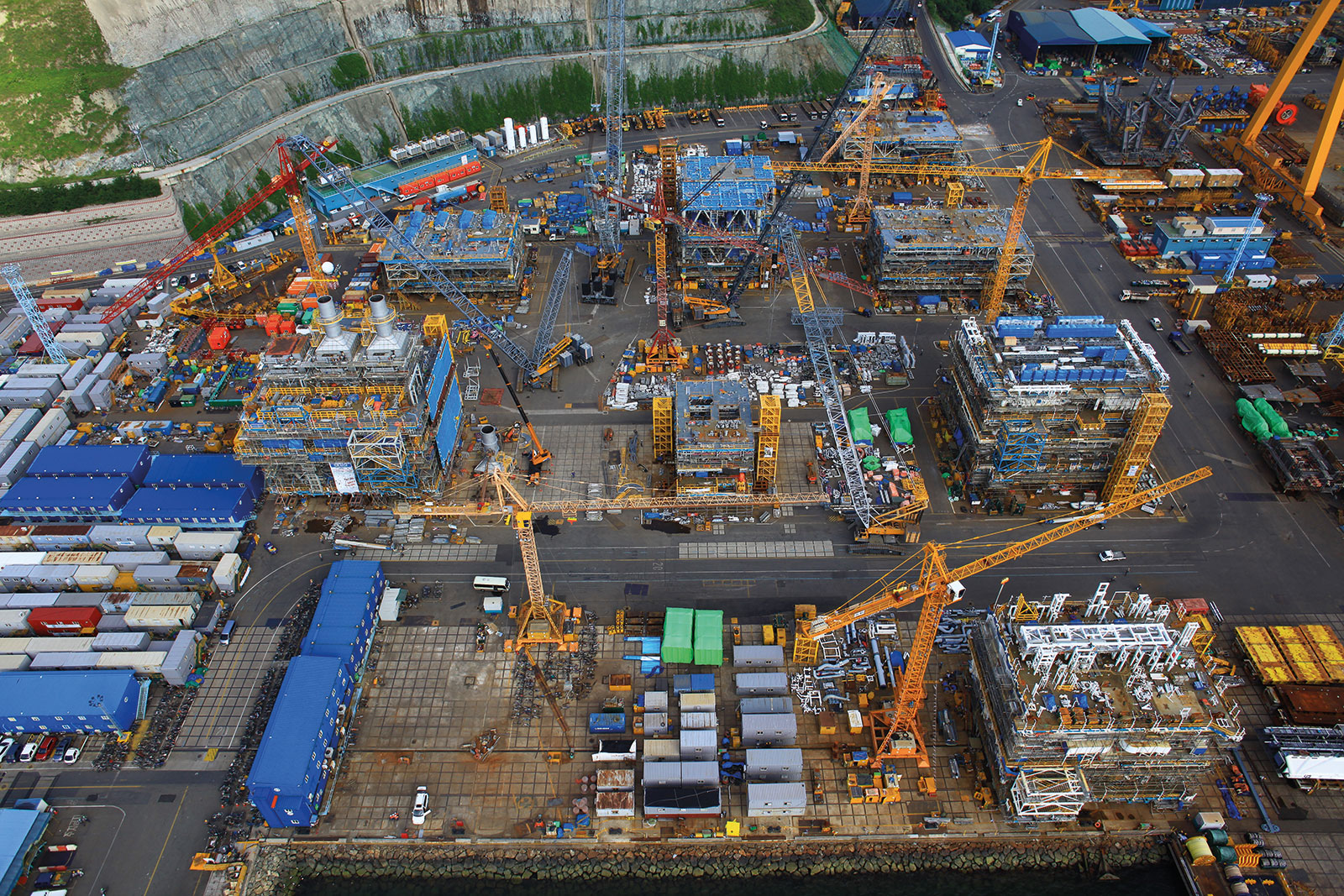 Icthys LNG project facilities, Australia.