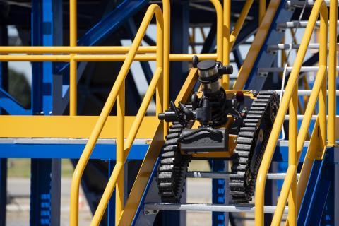 Robot de surveillance OGRIP sur la Plateforme de Développement Robotique.