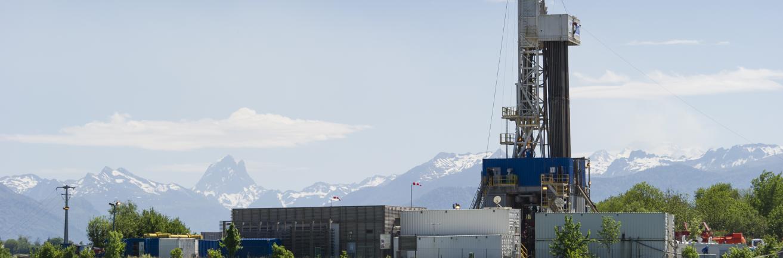 Mai 2015 / Rig de Rousse / Opération de bouchage du puits de Rousse en Pyrénées Atlantiques.