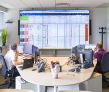 The RTSC (Real Time Support Center) Smart Room for drilling operations worldwide.